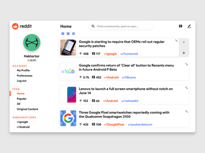 Reddit Redesign designs, themes, templates and downloadable graphic