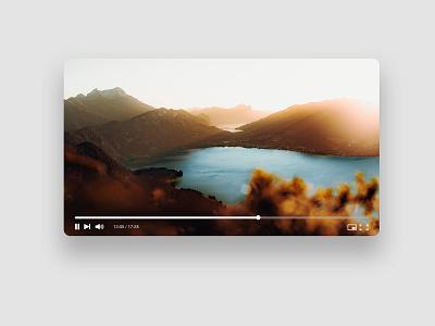 Video Player Adobe XD Mockup design mockup template youtube player video adobe xd mockup