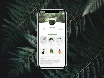 Daily UI #006 User Profile plants iphone app design dailyui ui design collect ui 006 daily ui 100 day ui challenge