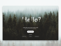 Daily UI #008 404-page