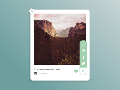 Daily UI #010 Social share share ui collective design dailyui ui design collect ui daily ui 100 day ui challenge