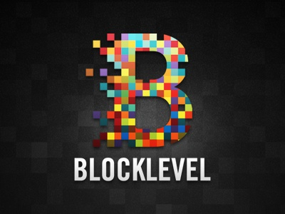 Logo Blocklevel blocklevel branding pixels dark color logo