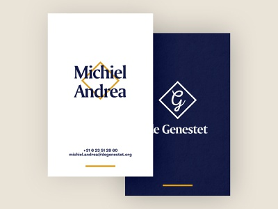Businesscard for de Genestet businesscards businesscarddesign businesscard design print minimal branding typography