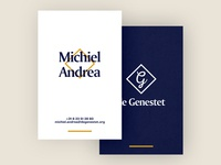 Businesscard for de Genestet