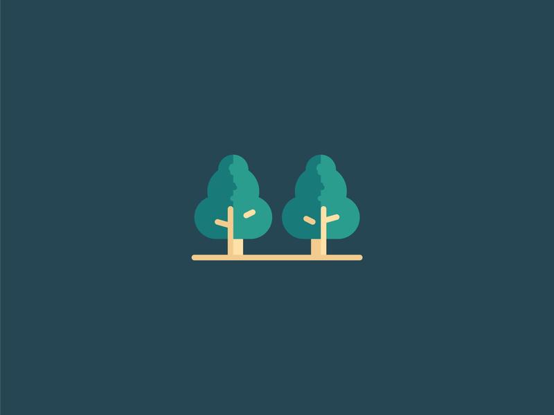 Tree Icon button icon a day illustration tree logo park tree icons set outline filled logo iconography icons icon