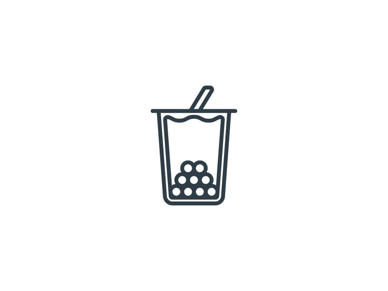 Bubble tea Icon ice drink tea bubble tea icon set logo illustration icons set icon a day icons icon