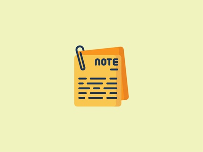 Note Icon flat illustration iconography notes document business backtoschool school note icons set icon a day icons icon