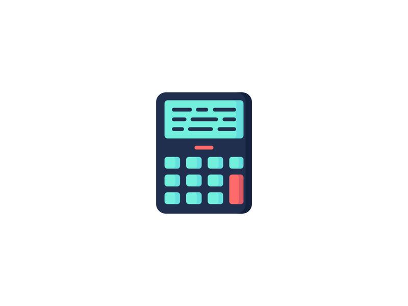 Calculator Icon backtoschool school economy finance math mathematics illustration icon set icons set icon a day icons icon