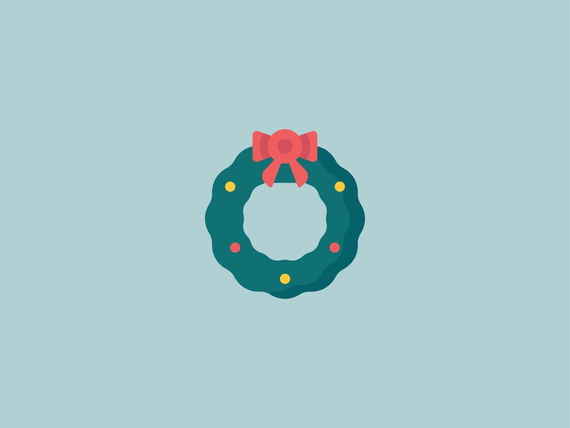 Christmas wreath Icon wreath flat design christmas flat vector design logo illustration icon a day icons icon
