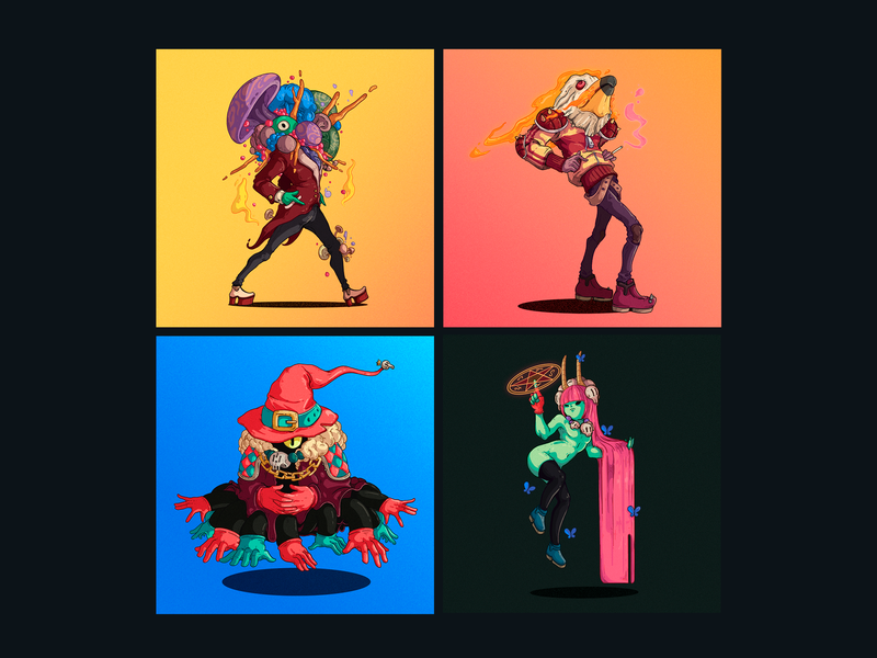 30 Days 30 Characters 17-20 freelance character designer peru illustration design character design
