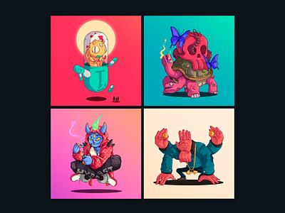 30 Days 30 Characters 21-24 freelance character designer peru illustration design character design
