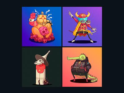 30 Days 30 Characters 25-28 freelance character designer peru illustration design character design