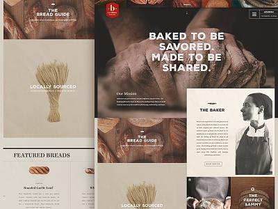 Bread Comp comp homepage ux ui interaction shop landing page