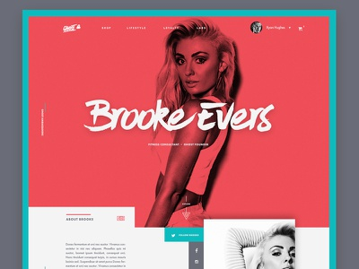 Ambassador Page Layout editorial layout grid homepage modern comp hero clean landingpage typography