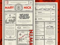 Wedding Newsprint