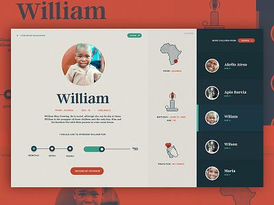 Sponsor William!  navigation typography gui slider texture illustration ui ux hero landingpage