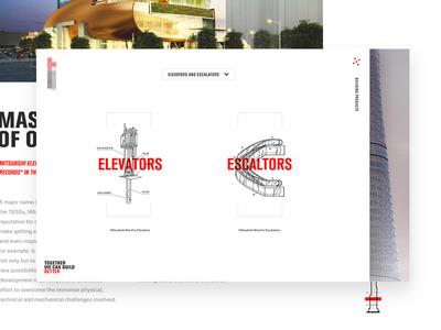 Past Pitch Work red editorial homepage landingpage ux ui typography navigation menu