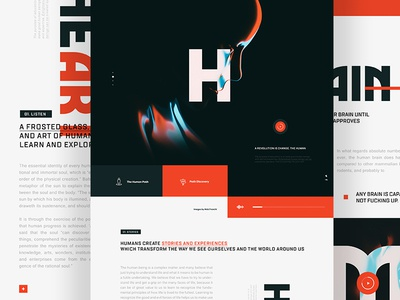 Humans menu logo typography editorial render ui ux homepage flat landingpage