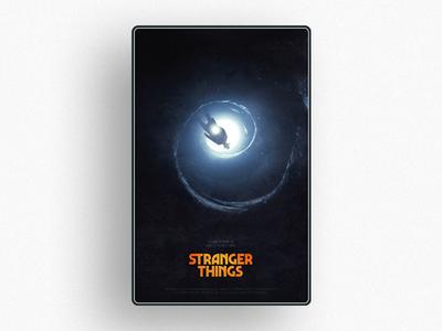 Octane and Stranger Things keyart ux movie editorial strangerthings typography c4d 3d poster