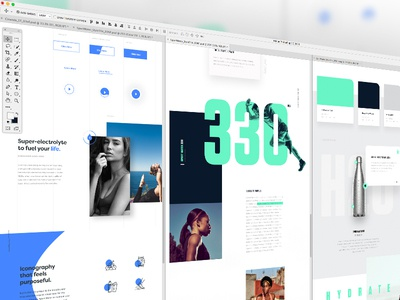 StyleTiles for Miles clean webdesign layout typography editorial ui ux landingpage styletile