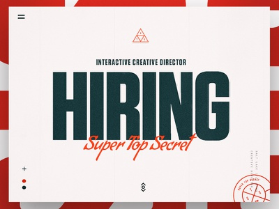 Creative Director Wanted clean agency fun typography xd ux ui landingpage homepage creative hiring