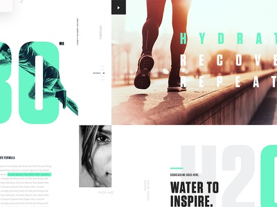 Detailed StyleTiles landingpage white clean navigation menu ux product typography editorial web design homepage