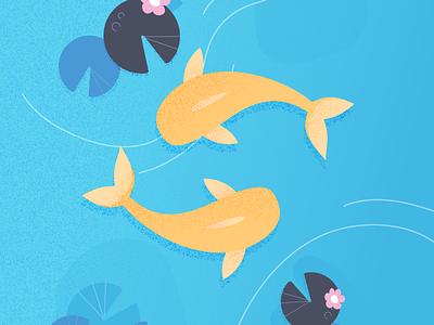 Allay fish animals illustrations
