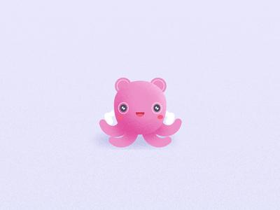 Allay Octopus animation octopus mascot