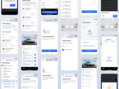 Garaji design app uxui cars