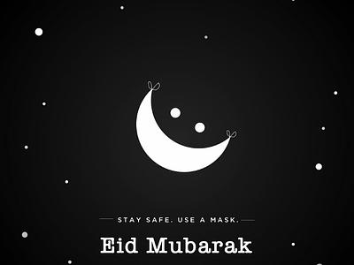 Eid Mubarak 🎉 logo visual eid mask corona