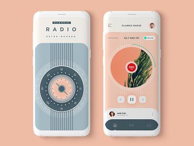 Classic Radio App UI design app ui clean minimal