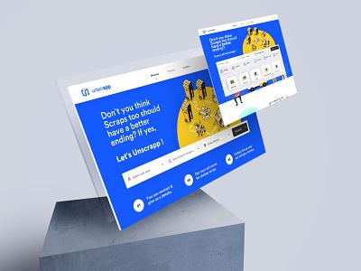 Unscrapp - Web Design ui user experience userinterface website design website web