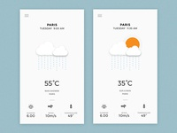Weather App - Rain Screens