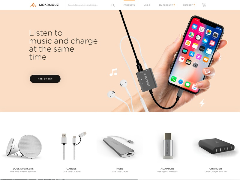 Moarmouz Redesign ux ecommerce web clean ui minimal
