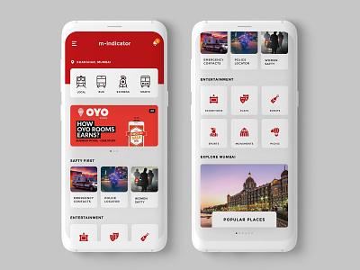 M Indicator Redesign app branding train userexperiencedesign ux design app clean ui minimal