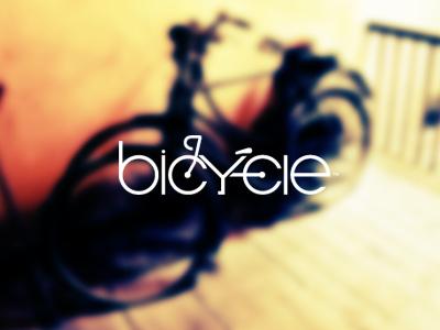 bicycle typography logo design