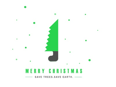 Merry Christmas green nature social christmas christmas card logo branding illustration design clean