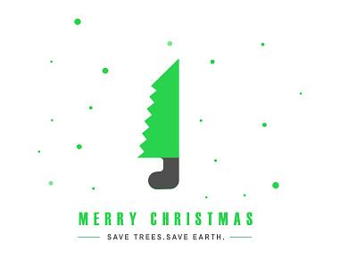 Merry Christmas green nature social christmas christmas card logo branding illustration design clean