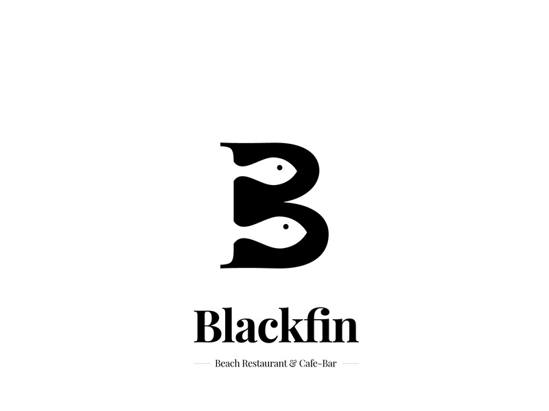 Blackfin - Identity for Beachside Restaurant fisherman fish logo fish illustration clean logo minimal