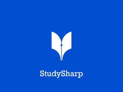 StudySharp Identity Design vector icon illustration logo design branding identity app clean logo minimal