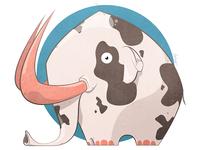 Elephant + Cow = This guy....