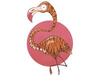 Flamingo + Tiger = This guy...