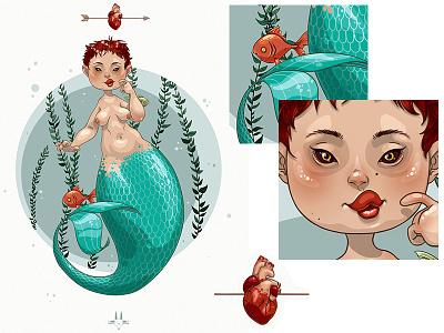 Merrrmaiding... sea ocean water arrow heart blue sexy hot fish underthesea mermaid