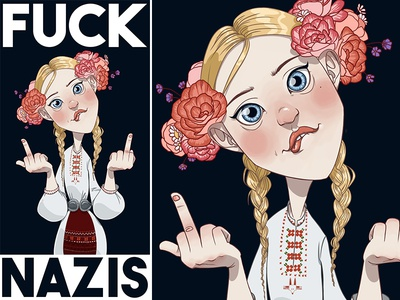 Fuck nazis flowers nation people equalright love