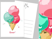 Grumpy Ice-cream greetings card