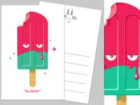 Grumpy Ice-cream greetings card