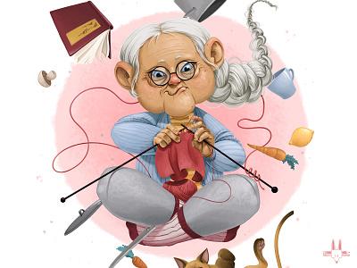 Granny magic illustration digitalart rikoandthehuman