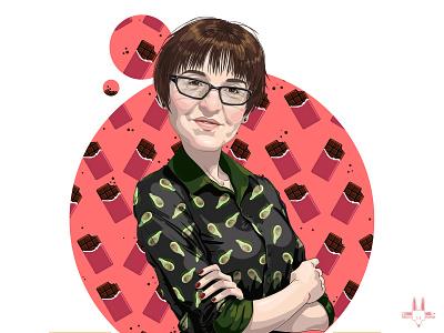 Commissioned Portrait portrait art birhdaypresent mother design illustration digitalart rikoandthehuman