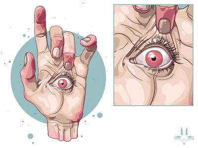 EyeSee Print eyesee eye hand art illustration digitalart rikoandthehuman