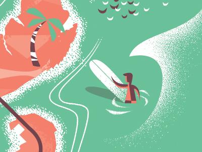 Surfer  surf surfer longboard map miami beach florida